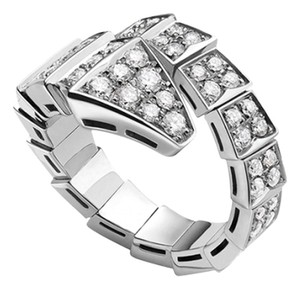 BVLGARI BVLGARI SERPENTI RING WHITE GOLD FULL PAVE DIAMONDS AN855116 LARGE