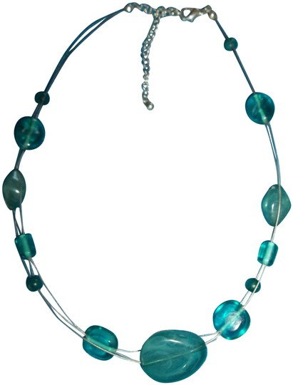 Other Jade Colored Necklace on Silver Strands