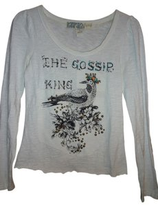 Yag Couture Jeweled Embroidered T Shirt