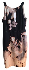 Elie Tahari Sleeveless New Black Orange Dress