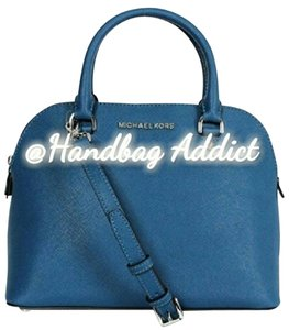 Michael Kors Satchel in Steel Blue / Silver