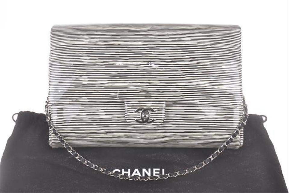 Chanel Black And White Patent Leather Shoulder Bag 30 Off Retail