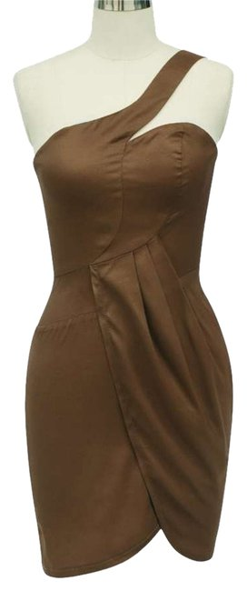 Preload https://item3.tradesy.com/images/brown-asymmetrical-one-shoulder-fashionista-satin-above-knee-cocktail-dress-size-4-s-127197-0-0.jpg?width=400&height=650