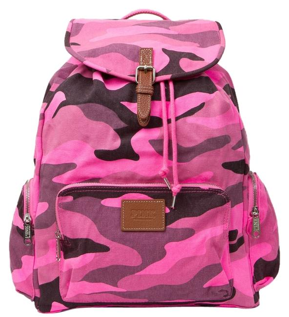 Item - Camo Large Multi-colored Cotton Canvas Backpack