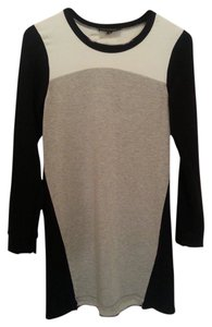 MM Couture short dress Grey, Black, and White Rayon Cotton Sweater on Tradesy