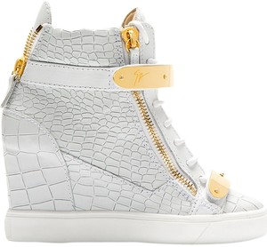 Giuseppe Zanotti Lorenz 75 Tr Gonna Sneaker Wedges White Athletic