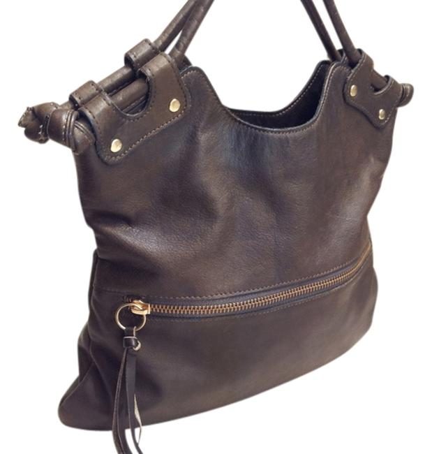 Item - Brooklyn Pre-owned - Mini Fold Over From Dark Brown Leather Tote