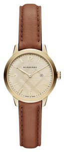 Burberry Burberry Women's Swiss Tan Leather Strap Timepiece 32mm BU10101