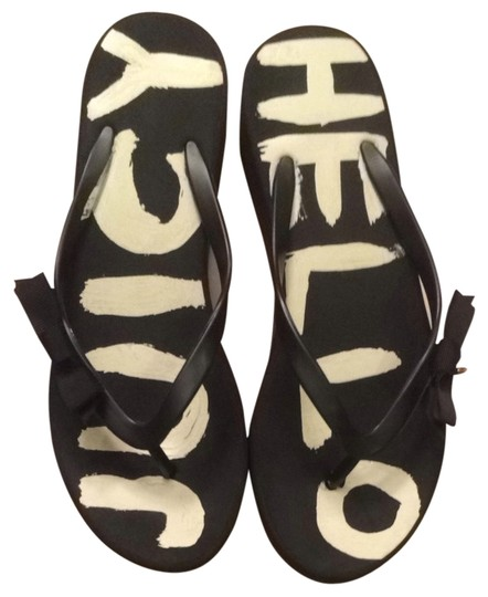 Juicy Couture Flip Flop Platform Summer And White Black Sandals