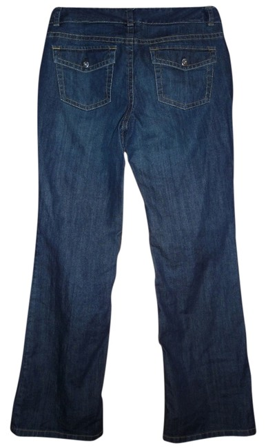 Ann Taylor Slim Fit Low Waist Boot Cut Jeans-Medium Wash