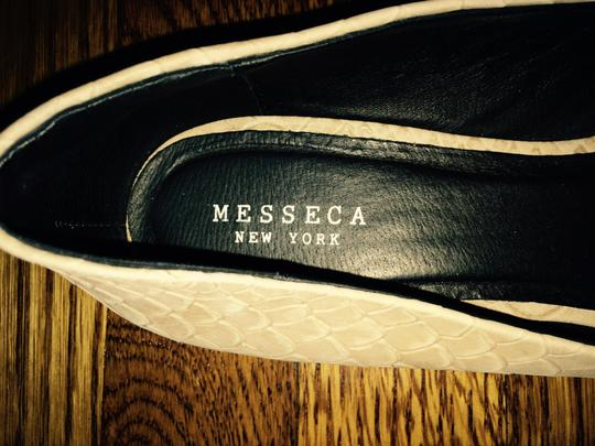 Messeca New York Cap Toe Leather Neutral and white Flats