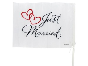 2- Just Married Car Flags