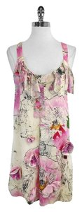 Diane von Furstenberg short dress Pink Ivory Floral Tank on Tradesy