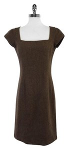 Ralph Lauren Brown Wool Herringbone Dress