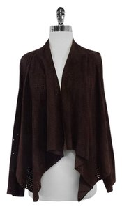 Magaschoni Brown Suede Perforated Jacket