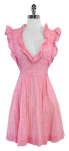 RED Valentino short dress Pink Cream Cotton on Tradesy