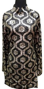 Farah Khan Glam Glitz Deco Holiday Sequined Embellished Dress