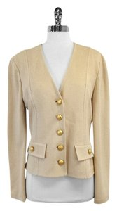 St. John Tan Knit Suit Jacket