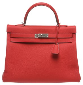 Hermès Satchel in Red