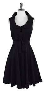 Karen Millen short dress Sleeveless Black Eyelet on Tradesy