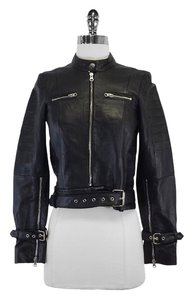 Bec & Bridge Black Leather Moto Moto Motorcycle Jacket