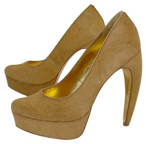 Ted Baker Camel Hair Platform Pumps