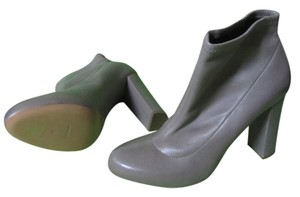 Chloé New 40 Stretch Leather Ankle Grey Boots