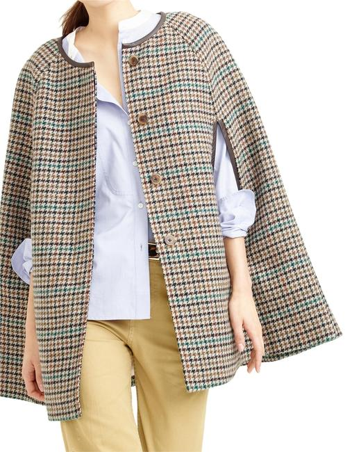 Item - Saddle Seagrass Multi Jacket In Houndstooth Item E2138 Poncho/Cape Size 0 (XS)