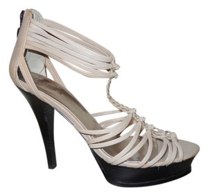 Guess Leather Platform Sandals light beige Platforms