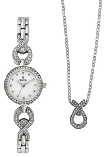 Bulova Bulova Women's Crystal Watch + Matching Pendant Swarovski Crystal Free Shipping