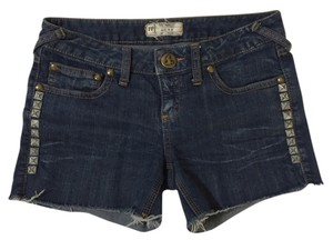 Free People Studs Studded Shorts Denim