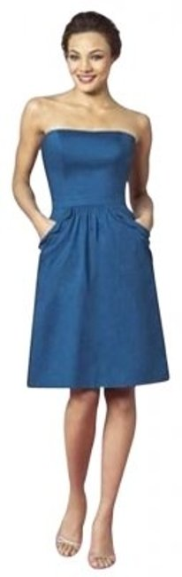 After Six Blue 6636 Short Night Out Dress Size 6 (S) After Six Blue 6636 Short Night Out Dress Size 6 (S) Image 1