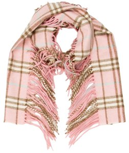 Burberry Beige, black, pink, multicolor Burberry Nova check Happy chashmere long scarf New