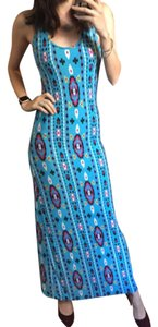 Blue Maxi Dress by Torn by Ronny Kobo
