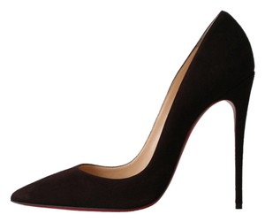 Christian Louboutin So Kate 120 Cramoisi Suede Wine Pumps