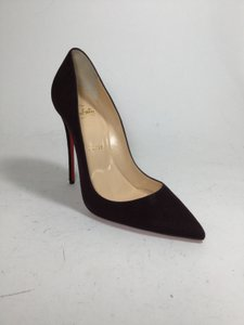 Christian Louboutin So Kate 120 Cramoisi Suede So Kate Wine Pumps