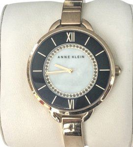 Anne Klein NEW Anne Klein Gold-Tone Stainless Steel Bangle Bracelet Watch