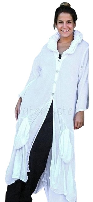 Item - Khaki Funky Boho Royal Duster Fits Most Roomy Button-down Top Size OS (one size)