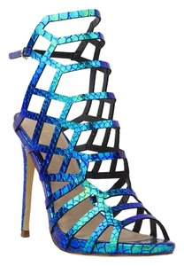 Liliana Green Hologram Sandals