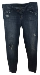 Mother The Looker Distressed Jeans Raw Hem Skinny Jeans