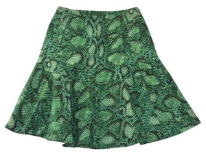 Altuzarra Target Flounced Lined Skirt Green