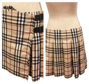 Burberry London Mini Skirt Tan Multicolor