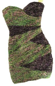 BCBGMAXAZRIA short dress Green Purple Night on Tradesy