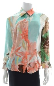 Roberto Cavalli Top Mint/teal