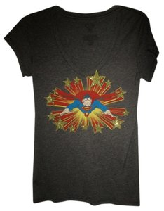 DC Comics Superman Superhero T Shirt Gray