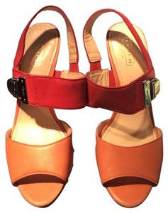 Coach Sandals Heels Wooden Heel Coral Platforms