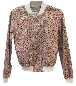 Thakoon Addition Bomber Floral Bomber White, pink Jacket