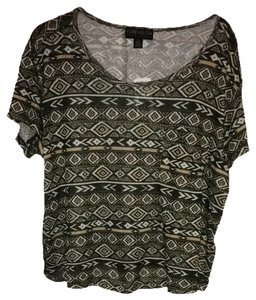 Forever 21 Top Black/taupe