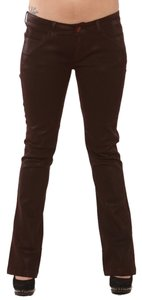 Lip Service Red Waxed Blood Widow Boot Cut Jeans-Coated