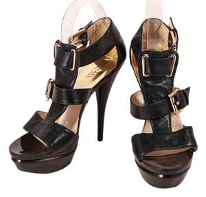 Michael Kors Mk Leather Black Platforms